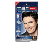 MEN PERFECT TONER GEL ANTI CANAS KIT COLOR 80 BLACK BROWN